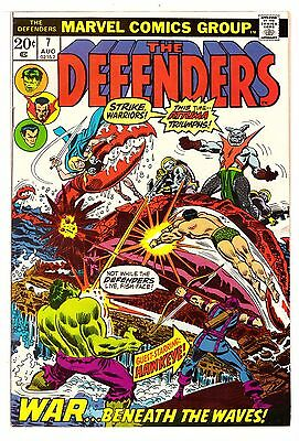 Defenders #7 FN- (5.5) Marvel Comic 1973 (2)