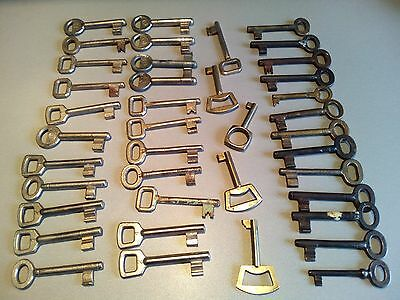 MEGA LOT Antique Vintage KEYS-LOCK--- iron and bronze keys RARE--40 PCS