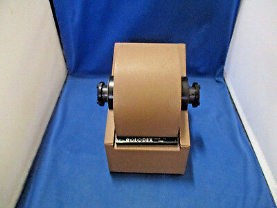 Vintage Rolodex Zephyr Model 1753 Metal Rotary Card File w/Cards