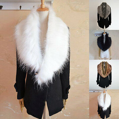 Thick New Scarf 4 Colors Faux Fur Womens Warm Luxury Soft Collar