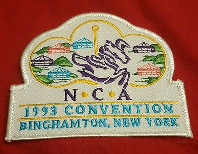 Nca 1993 Convention Binghamton Ny Carousel Embroidered Iron On Sew On Patch