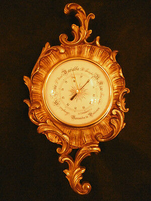 Barometer, Rococo / Louis Xv Style - Bronze - French Antique