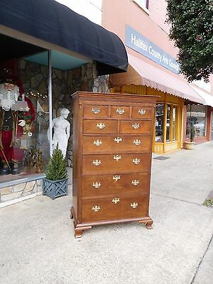Fantastic Southern Chippendale Mahogany Tall Chest 19th Century