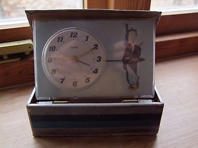 Vintage 'Puppet' Clock in a Box Seiko Japan