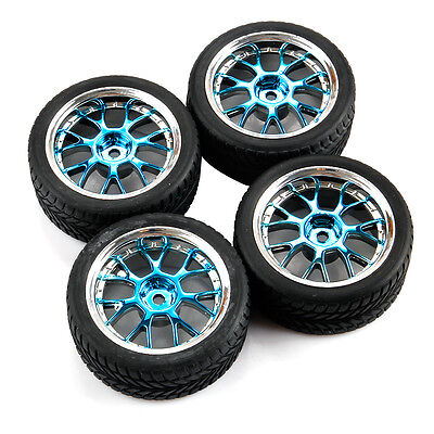 For HSP HPI RC Tires & Wheel On Road Car 12mm Hex 1/10 Scale