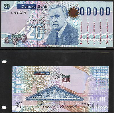 Northern Ireland - Danske Bank £20 notes - First Run - 2012 - In Sequence - UNC