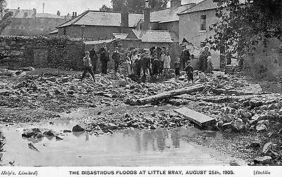 THE DISASTROUS FLOODS AT LITTLE BRAY WICKLOW IRELAND AUGUST 25th 1905 POSTCARD