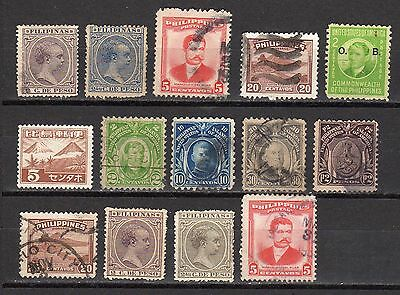 Petit lot Philippines  timbres anciens