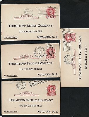 US 1920's Postal Stationary Cards Collection 4 Overprinted UY9r