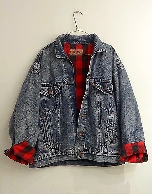 Large Flannel Lined Levi Denim Jacket