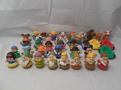 Fisher Price Disney Little People Lot Snow White  Dwarfs Mickey Mouse & More