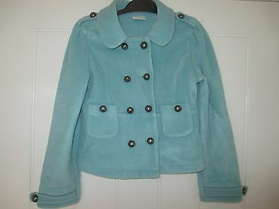 Next Girls Blue Military Style Coat - age 8 years