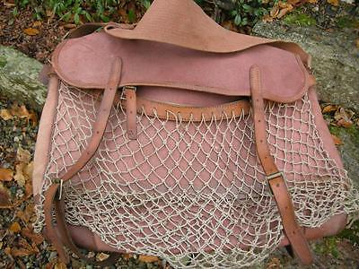 Large Vintage Brady Leather And Canvas Shooters Game Bag