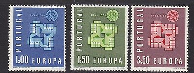Portugal stamps 1961 Europa. Full set of 3 mint