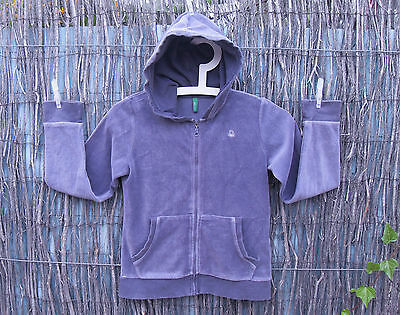 Veste velours capuche fille garçon velours gris UNITED COLORS OF BENETTON 10 ans