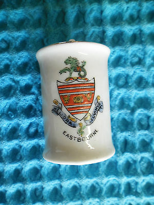 Crested China Arcadian Model Of Canister Bomb Eastbourne Crest  Military Ww1