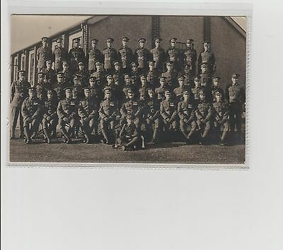 WW1 Soldiers Regiment With Commanding Officers & Bugle Boy RPPC Unposted c1910s