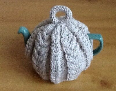 Hand knitted Aran Style tea cosy