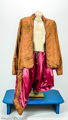 King Of Siam 2 Piece Burgundy & Copper Pants & Coat The King And I Size Xl