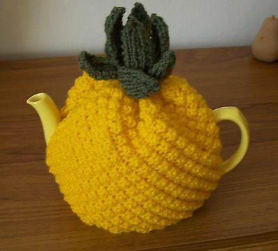 Hand knitted pineapple tea cosy
