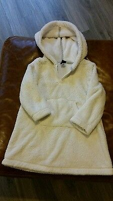 gap girls cream fur hooded top dress age 3