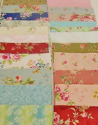 Charm Pack 2   64 5 Inch Squares  32 Patterned 32 White 100% Quilting Cotton