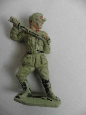 Lone Star   Plastic Toy  German Desert  Troop Wwii  1960's Rare
