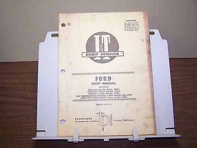 Ford Fordson Major Power Major Super Major Tractor Shop Manual Service Repair
