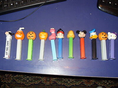 Pez Dispencers11 Inc Pumpkin X4 Mor Chicken Mickey Mouse + Others