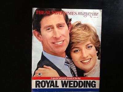 CHARLES & DIANA The SUNDAY TIMES MAGAZINE ROYAL WEDDING 2 AUGUST 1981