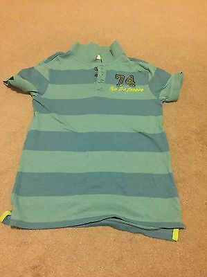 BNWOT Boys Florence & Fred Striped Polo Shirt, 7-8 Years, Stocking Filler