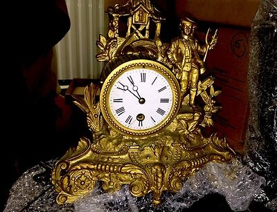 Antique Ormolu c1800 French Mantle Clock
