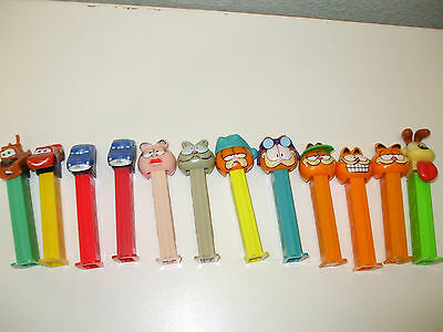 PEZ lot Garfield and Cars
