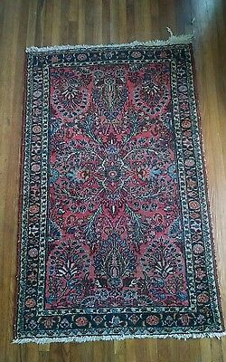 Foyer Semi Antique Tribal Hand knotted Persian Oriental Area Rug Carpet 4'X2.5'