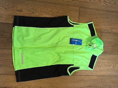New With Tags Men's M Crane Running Gilet Bright Green