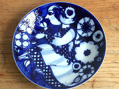 bjorn wiinblad rosenthal wall plate cobalt blue lovely condition 22cms