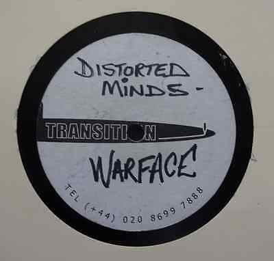 "DUBPLATE: DISTORTED MINDS - Warface / Dark Army  - 12"" Acetate Transition Studio"