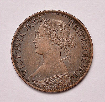 Victoria 1866 Farthing  ®155-A10
