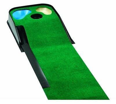 Putting Green Indoor Golf Turf With Ball Return Practice Mat Home Office