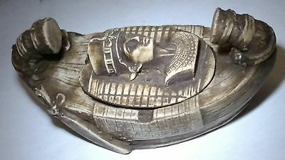 Egyptian Antique, Pharaoh's Boat King Tutankhamun, Sculpture Figurine Stone