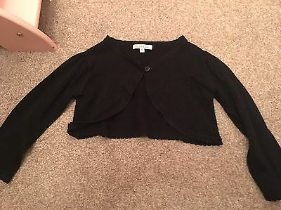 girls black sparkly party shrug - blue zoo age 2-3