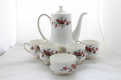 "Royal Standard ,,Minuet"" Tea/Coffee 6pc Beautiful Set With Rose Pattern"