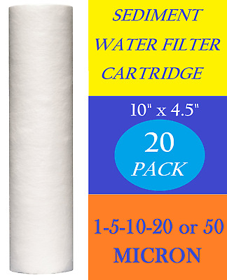 """10 Pack Sediment Water Filters Cartridges  10"""" x 4.5"""" Reverse Osmosis"""
