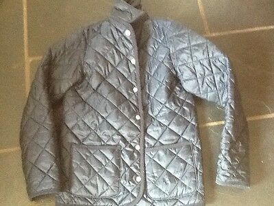 unisex Benetton navy blue quilted jacket age 10-11 or xl
