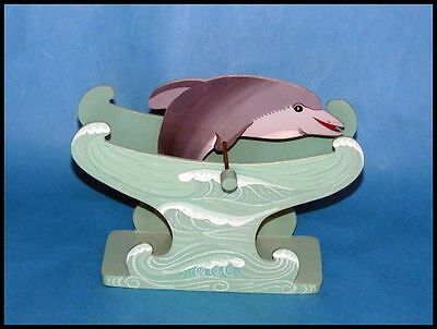 Wooden Dolphin Spinning Toy wood