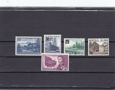 10 Norfolk Islands 1947 MH  Nice lot of better stamps cat val. € 86
