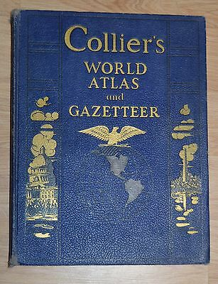 colliers world atlas and gazetteer 1940 very good condition