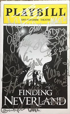 FINDING NEVERLAND Alfie Boe & cast signed Playbill  LEUKAEMIA CHARITY AUCTION