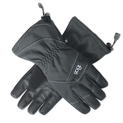 180s Men's Sustain Ski Gloves Snow Winter - Black (Large)
