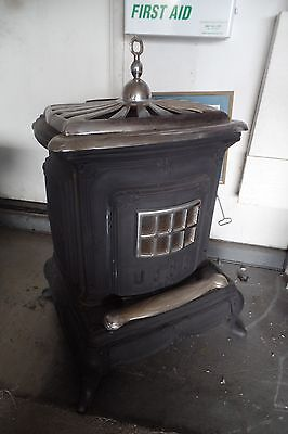 Vintage Cast Iron Parlor Stove/ Wood Burning Stove Ben Franklin Style